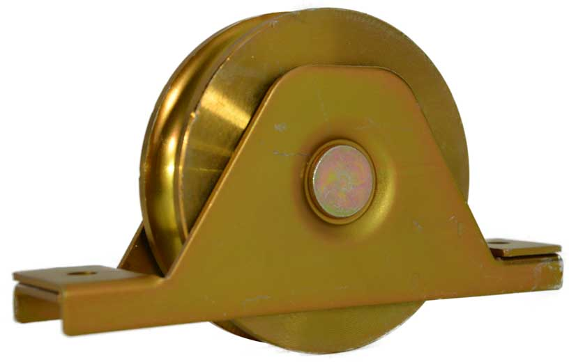 side view of 118mm sliding gate wheel