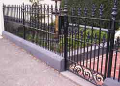 Wrought iron fence and gate