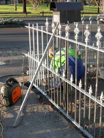 repairing wrought iron fence