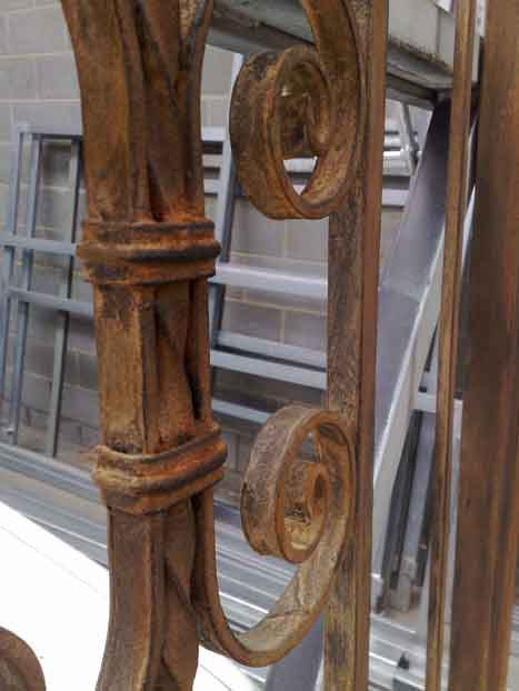 wrought iron rustic close up