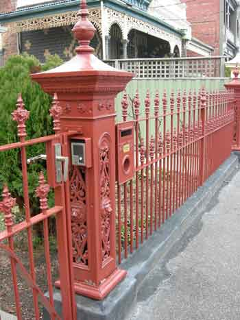 wrought iron Gate with lion post attatched