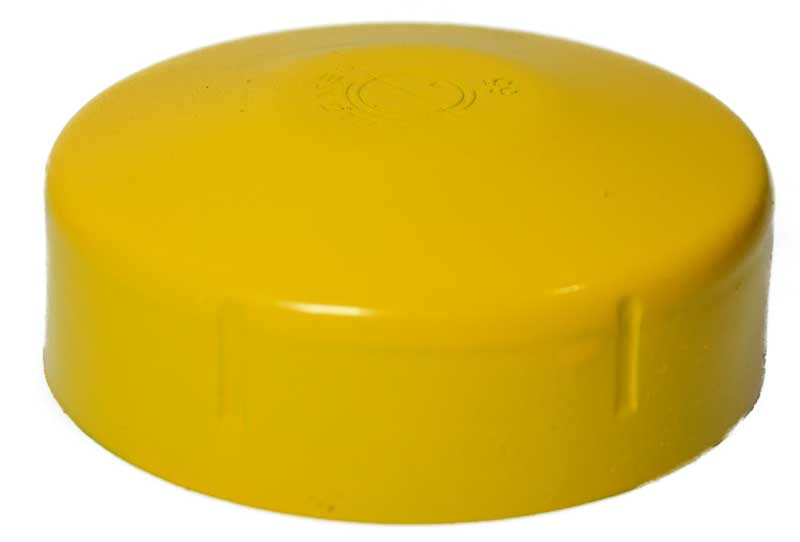 Yellow steel post cap